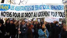 Manifestation à Paris pour le Droit au logement