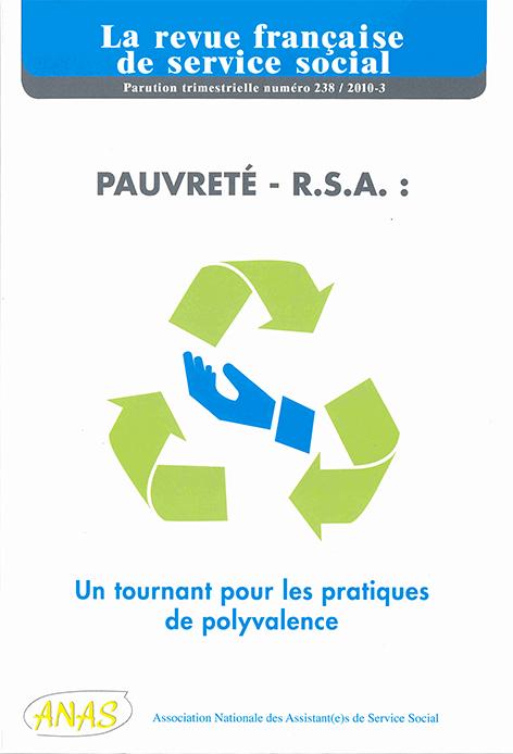 """RFSS N°238 : """"Pauvreté - R.S.A. : Un tournant pour les pratiques de polyvalence"""""""