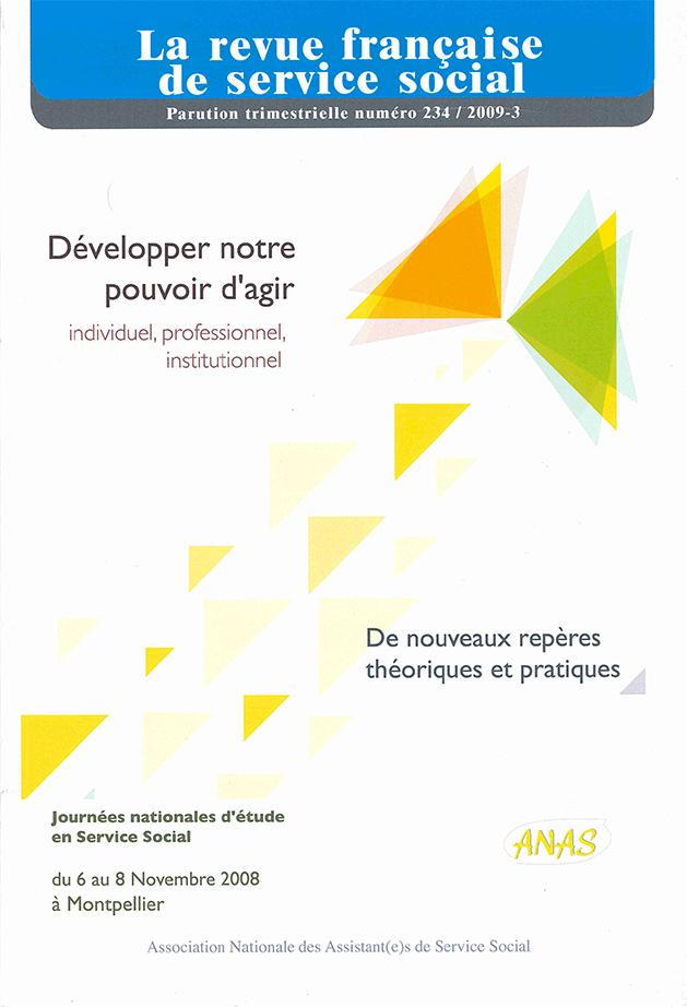 """RFSS N°234 : """"Développer notre pouvoir d'agir - individuel, professionnel, institutionnel"""""""