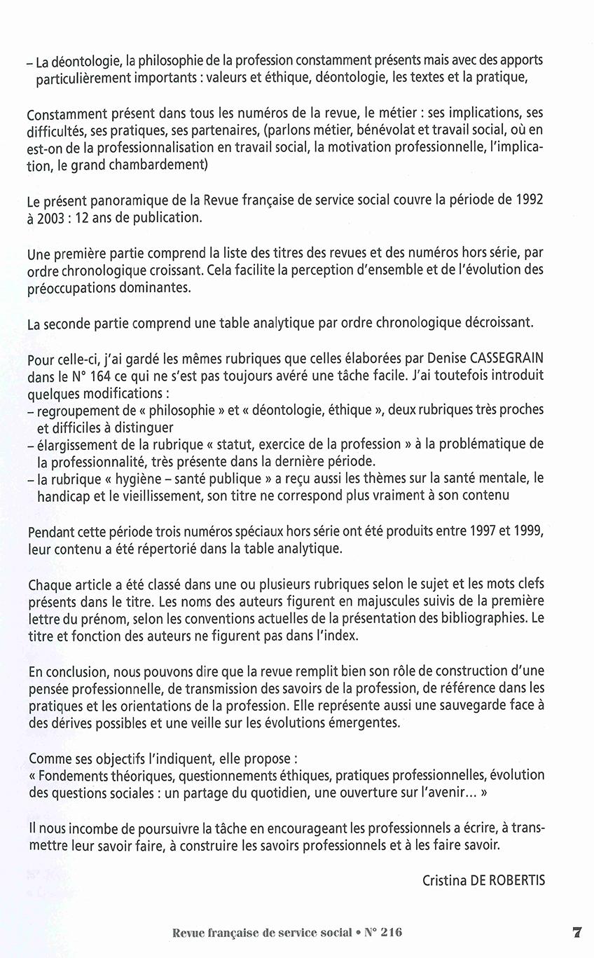 """RFSS N°216 : """"L'index des 12 années de la Revue & Conférence de consensus liberté d'aller et venir dans les établissements sanitaires et médico-sociaux, et obligation de soins et de sécurité"""""""