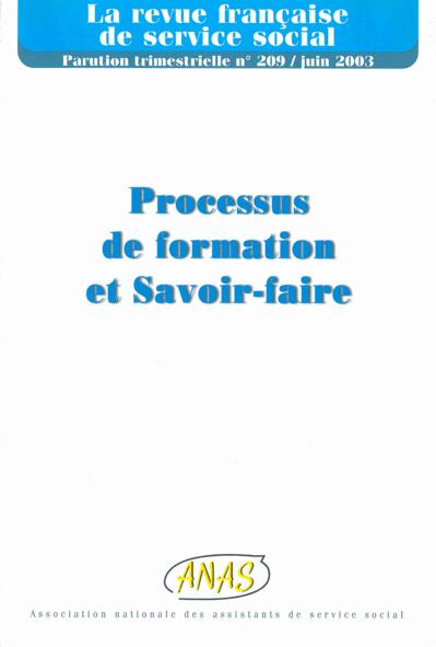 """RFSS N°209 : """"Processus de formation et Savoir-faire"""""""