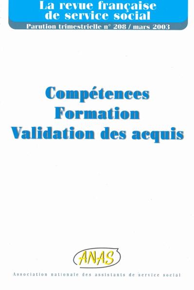 """RFSS N°208 : """"Compétences, Formation, Validation des acquis"""""""