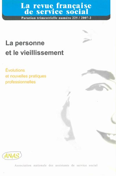 """RFSS N°225 : """"La personne et le vieillissement"""""""