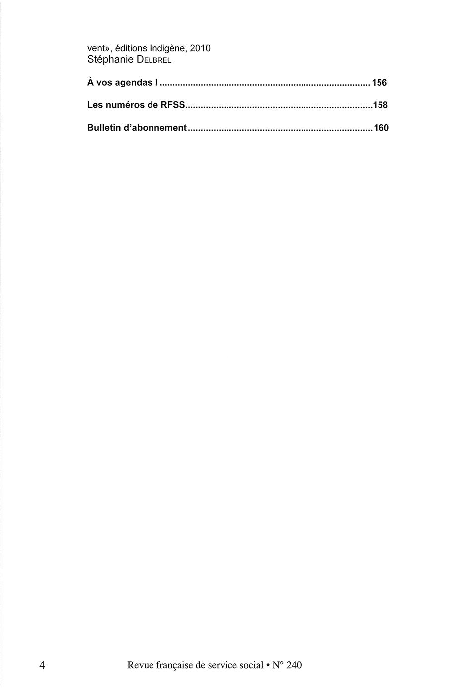 """RFSS N°240 : """"Profession Assistant de service social : Repères & Enjeux"""""""