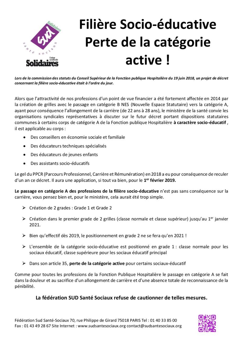 Perte De La Categorie Active Des Assistants Sociaux Hospitaliers