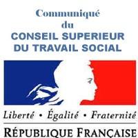 Communiqué du Conseil Supérieur de Travail Social