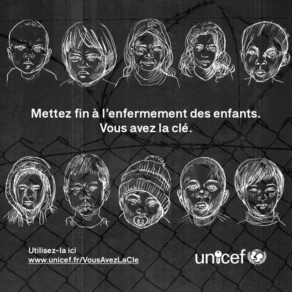 """Campagne UNICEF sur la rétention des enfants - """"On n'enferme pas un enfant"""""""