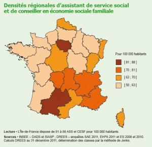 « 1,2 million de travailleurs sociaux en 2011 », Études et Résultats, n°893, Drees, Rémy Marquier, Septembre 2014