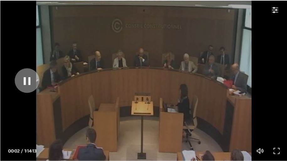 Vidéo de l'audience au Conseil Constitutionnel de la QPC n°2019-797 au sujet de l'article 51 de la loi « asile et immigration » portant création du fichier biométrique des mineur∙e∙s non accompagné∙e∙s