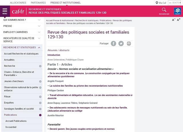 Revue des politiques sociales et familiales 129-130