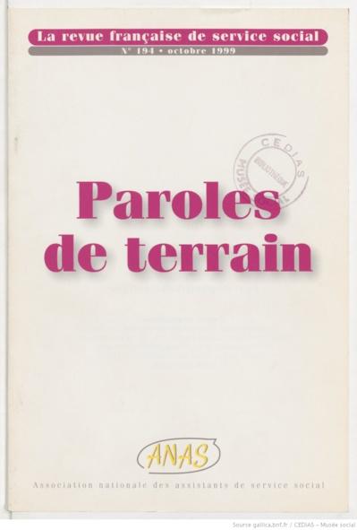 La Revue française de service social n° 194 - Octobre 1999