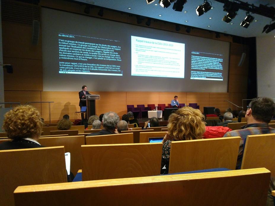 Séance d'installation de la Conférence Nationale de Santé le 12/02/2020