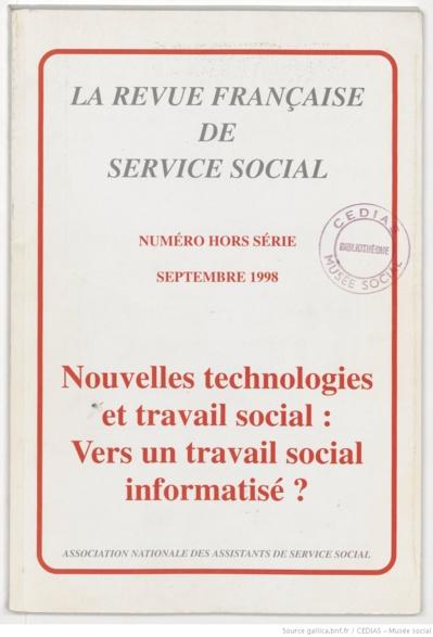 La Revue française de service social hors-série - Septembre 1998