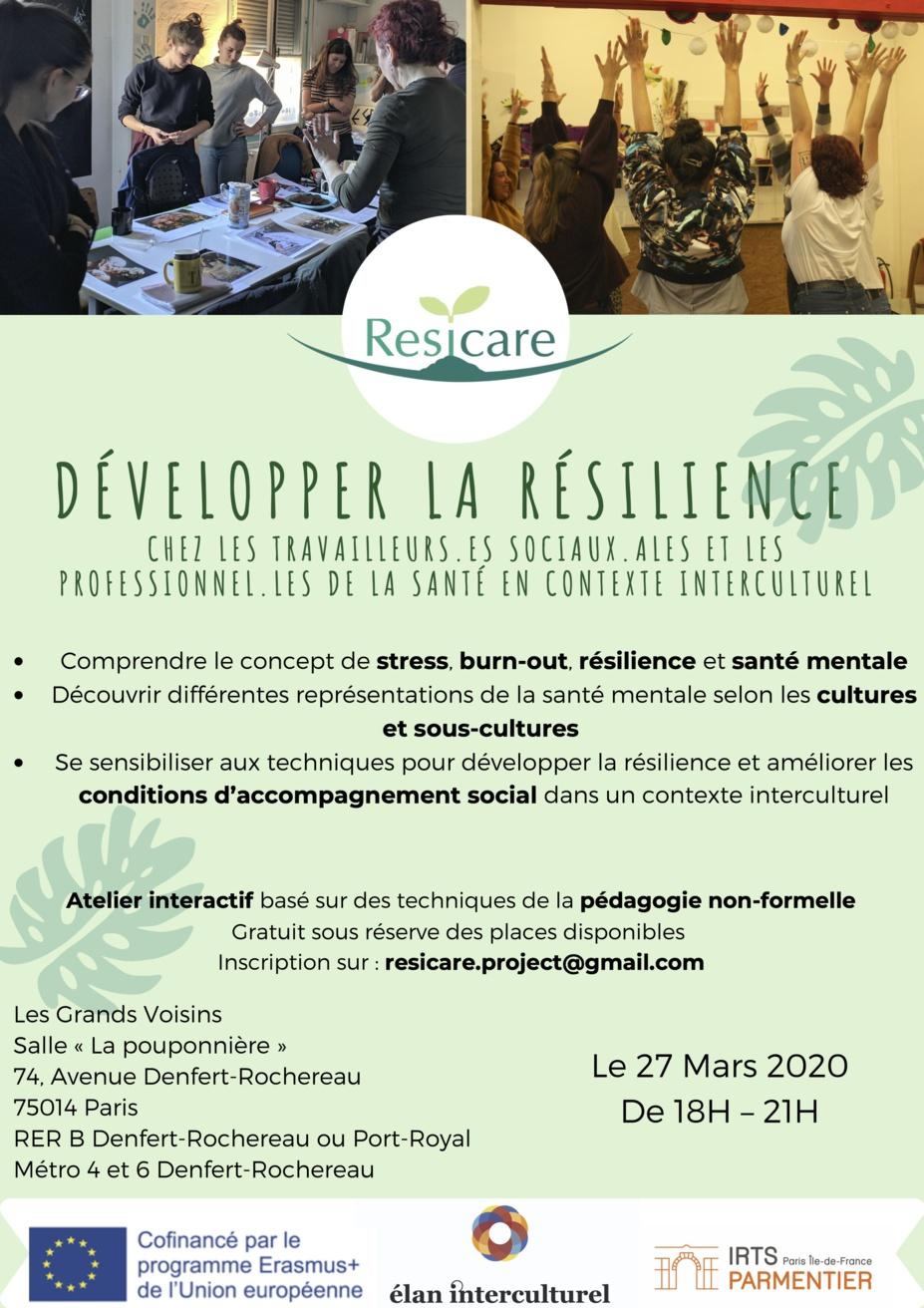 27/03/2020 - Paris - Développer la résilience chez les travailleurs·es sociaux·ales et les professionnel·les de la santé en contexte interculturel
