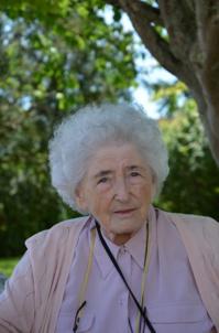 Portrait de Catherine de Béchillon le 13 mai 2019 à son domicile (ANAS, Droits réservés)