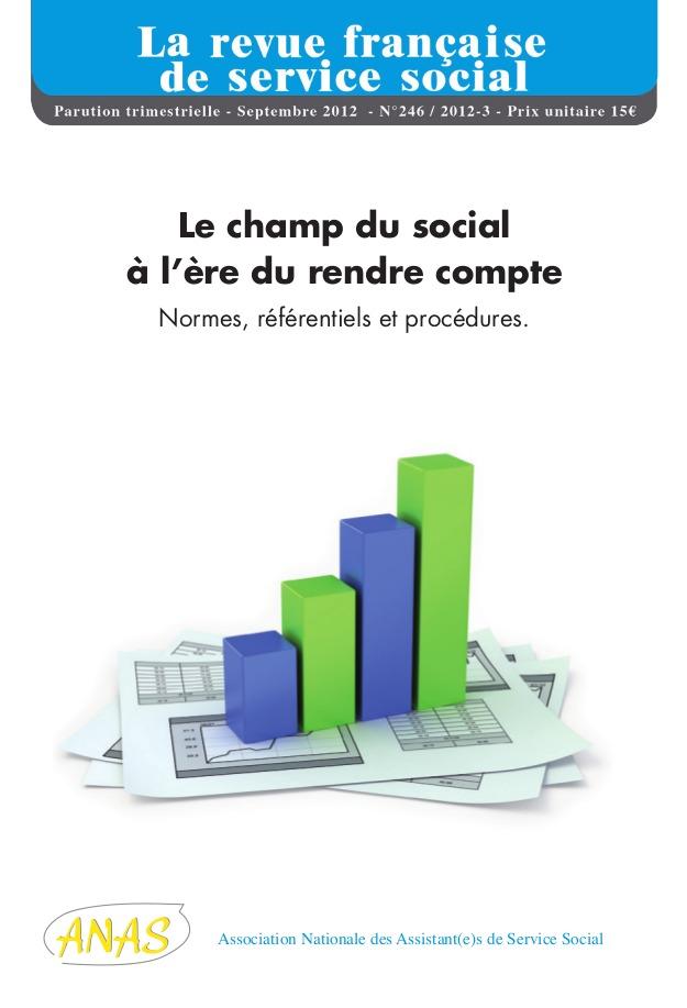 """RFSS N°246 : """"Le social à l'ère du rendre compte: normes, référentiels, procédures"""""""