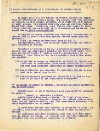 Le secret professionnel et l'indépendance du service social - 1945