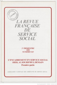 La Revue française de service social n° 165 - Juin 1992