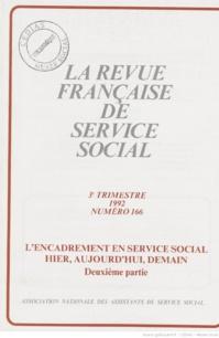 La Revue française de service social n° 166 - Septembre 1992