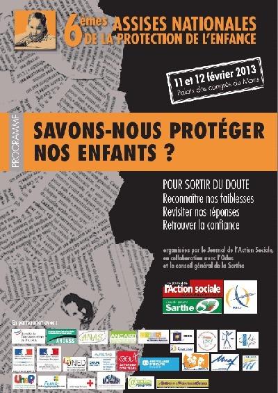 Texte intégral de l'intervention de Laurent Puech, vice-président de l'ANAS, lors des 6e Assises Nationales de la protection de l'enfance au Mans (11 février 2013)