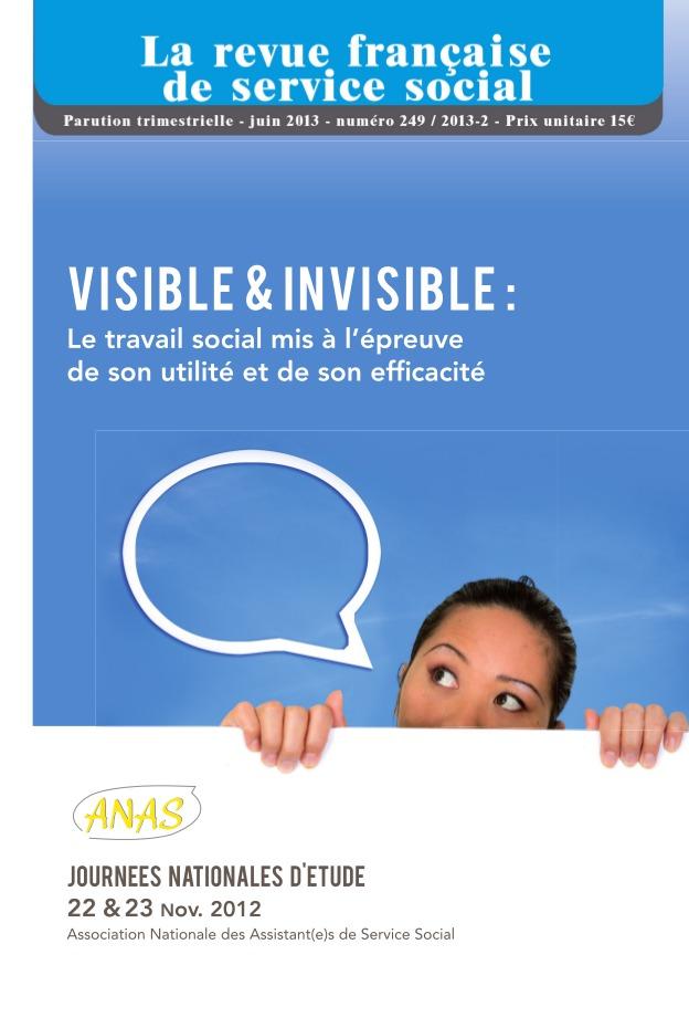 """Extrait RFSS n°249: Les journées nationales d'études  """"Visible et invisible : Pour un travail social efficace, utile et humain"""" (Nicolas AMADIO)"""