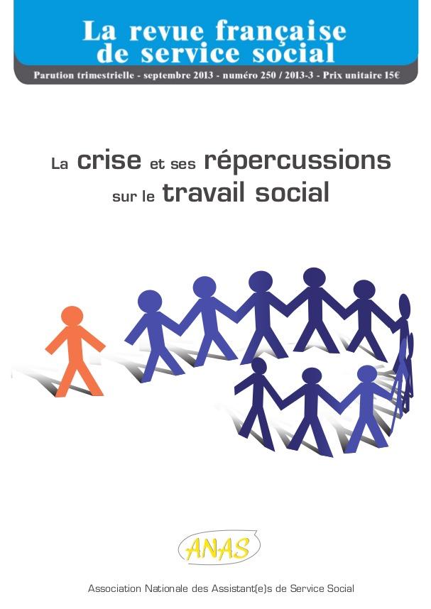 """Extrait RFSS n°250: """"La crise et ses répercussions sur le travail social"""""""