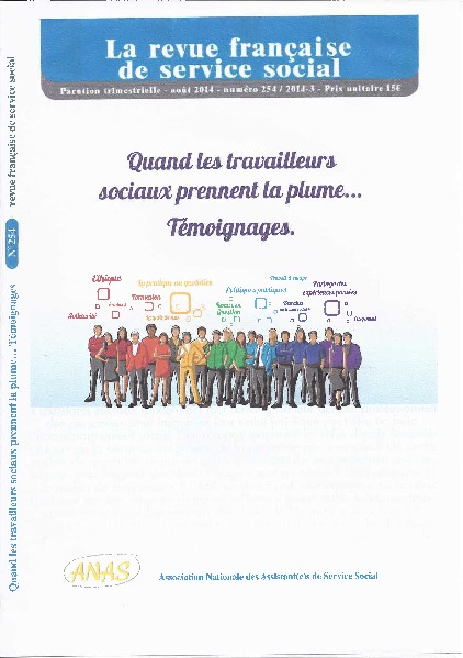 """RFSS n°254: """"Quand les travailleurs sociaux prennent la plume...Témoignages."""""""