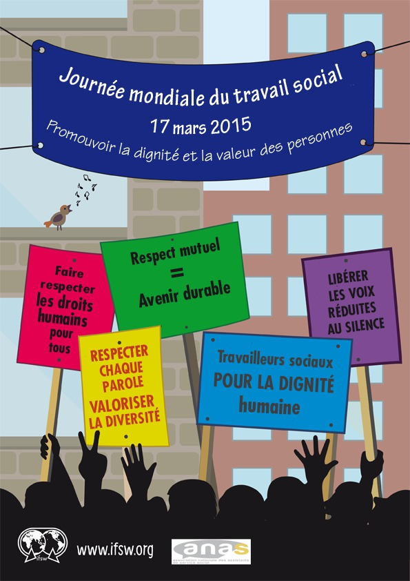 MOBILISONS-NOUS A L'OCCASION DE LA JOURNEE MONDIALE DU TRAVAIL SOCIAL - LE 17 MARS 2015