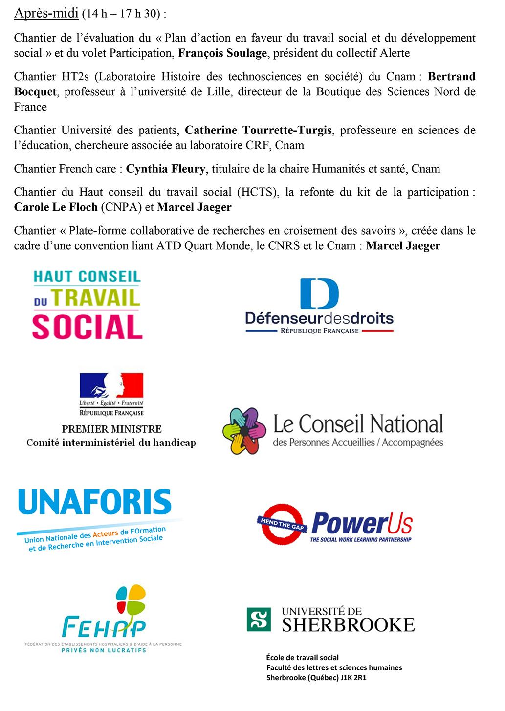 CNAM - Participation et citoyenneté : réunion de chantiers