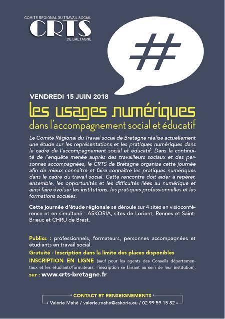 Journée du CRTS de Bretagne : Les usages numériques dans l'accompagnement social et éducatif