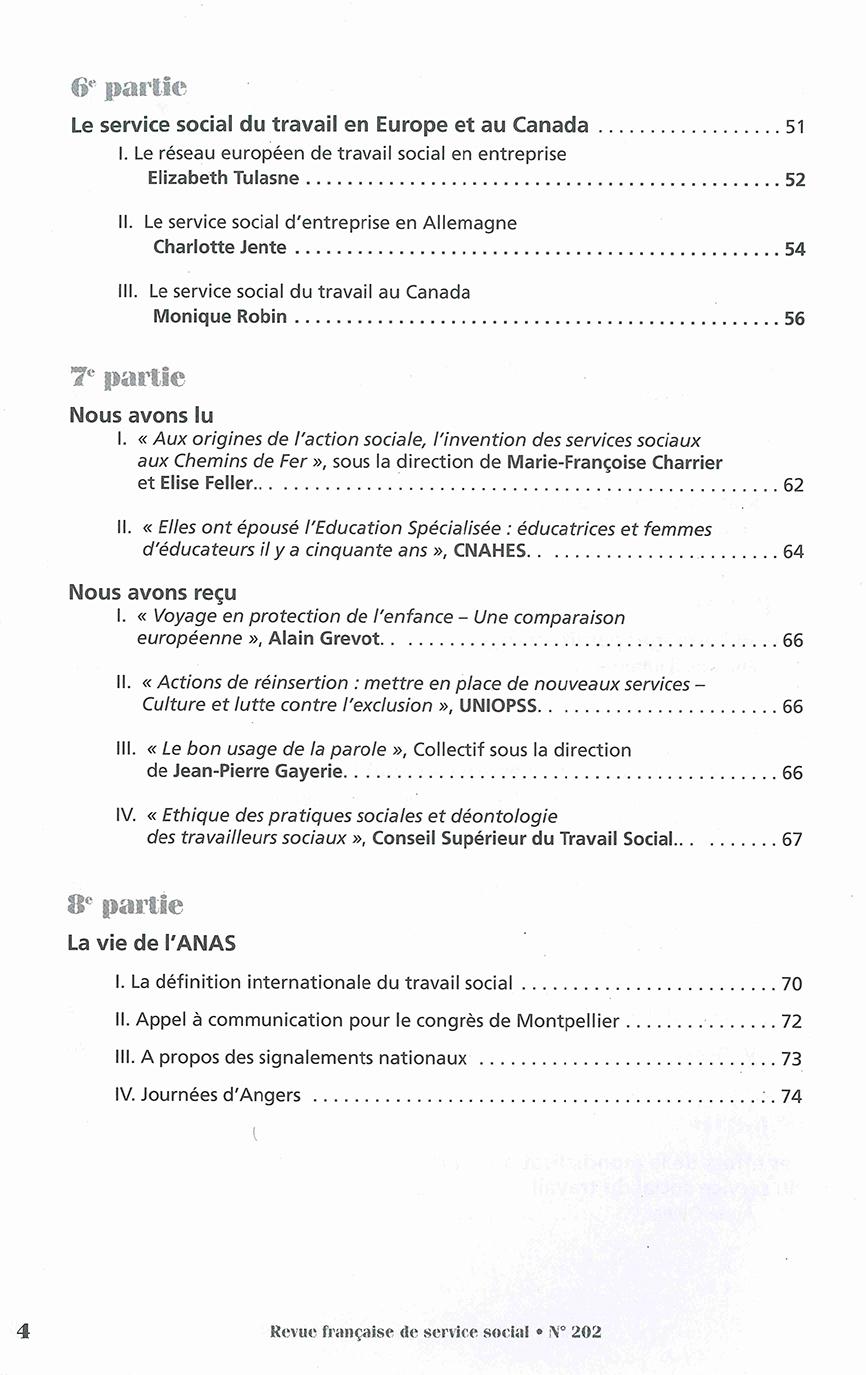"""RFSS N°202 : """"Quand le service social a rendez-vous avec la mondialisation"""""""