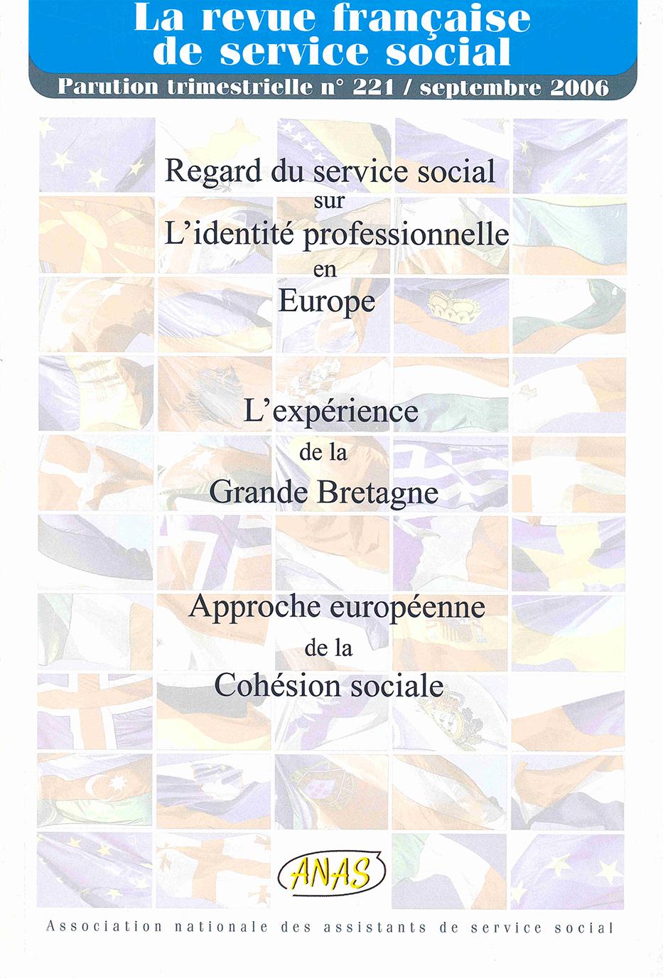 """RFSS N°221 : """"Regard du service social sur l'identité professionnelle en Europe - L'expérience de la Grande Bretagne"""""""