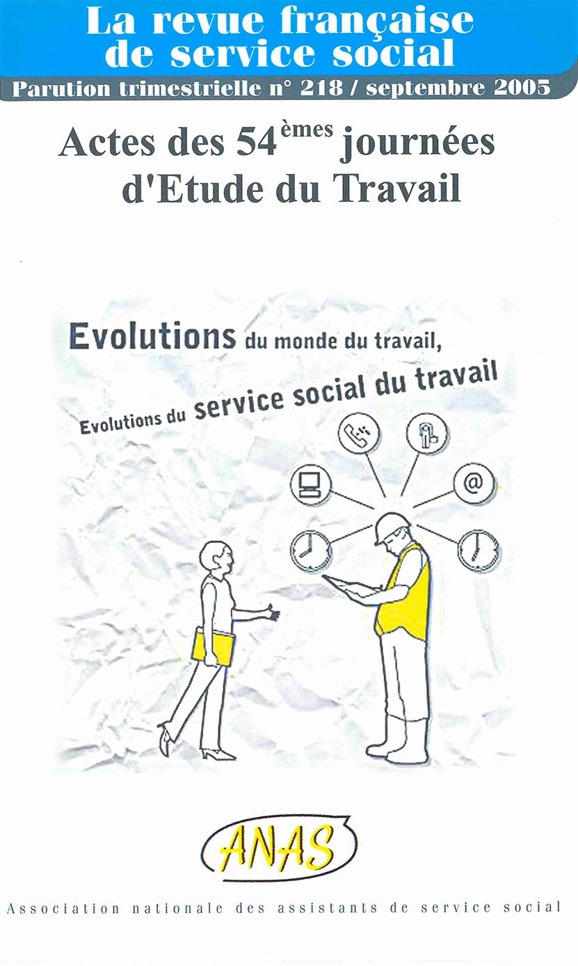 "RFSS N°218 : ""Evolutions du monde du travail, évolutions du service social du travail"""