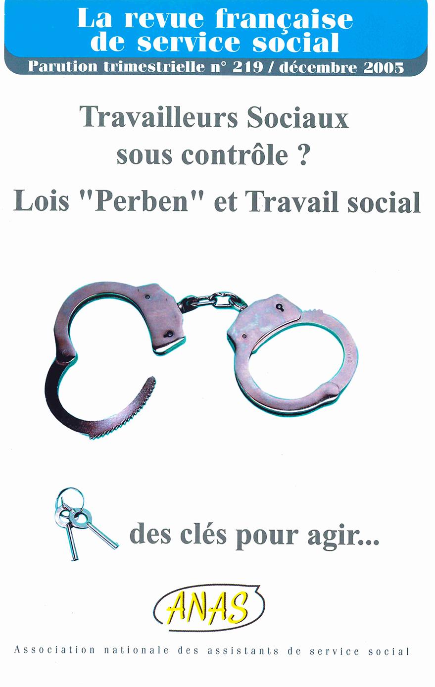"""RFSS N°219 : """"Travailleurs sociaux sous contrôle ?"""""""