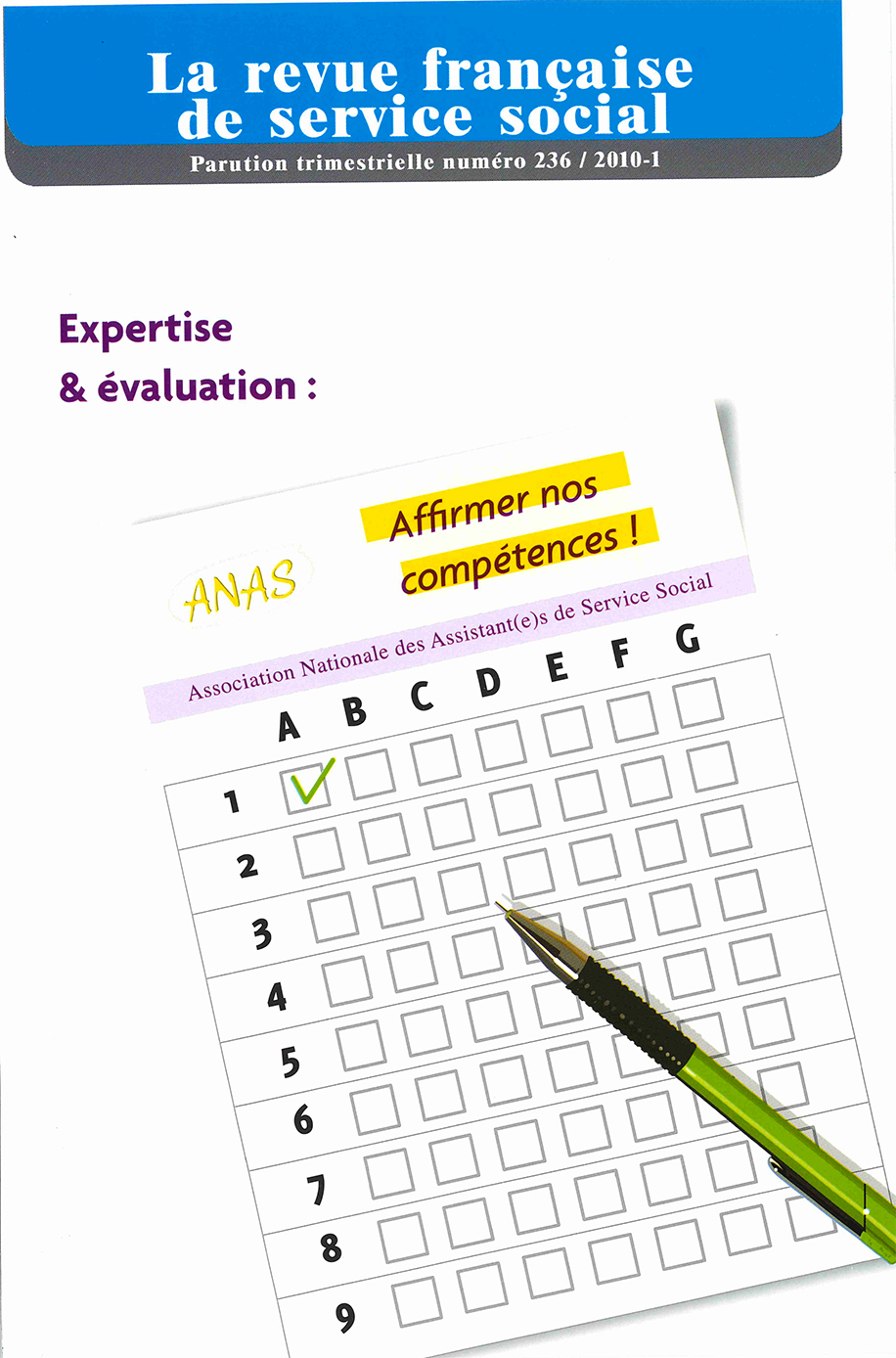 "RFSS N°236 : ""Expertise et évaluation : Affirmer nos compétences"""