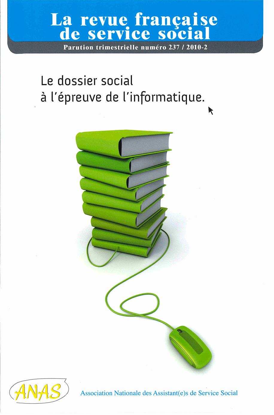 """RFSS N°237 : """"Le dossier social à l'épreuve de l'informatique"""""""