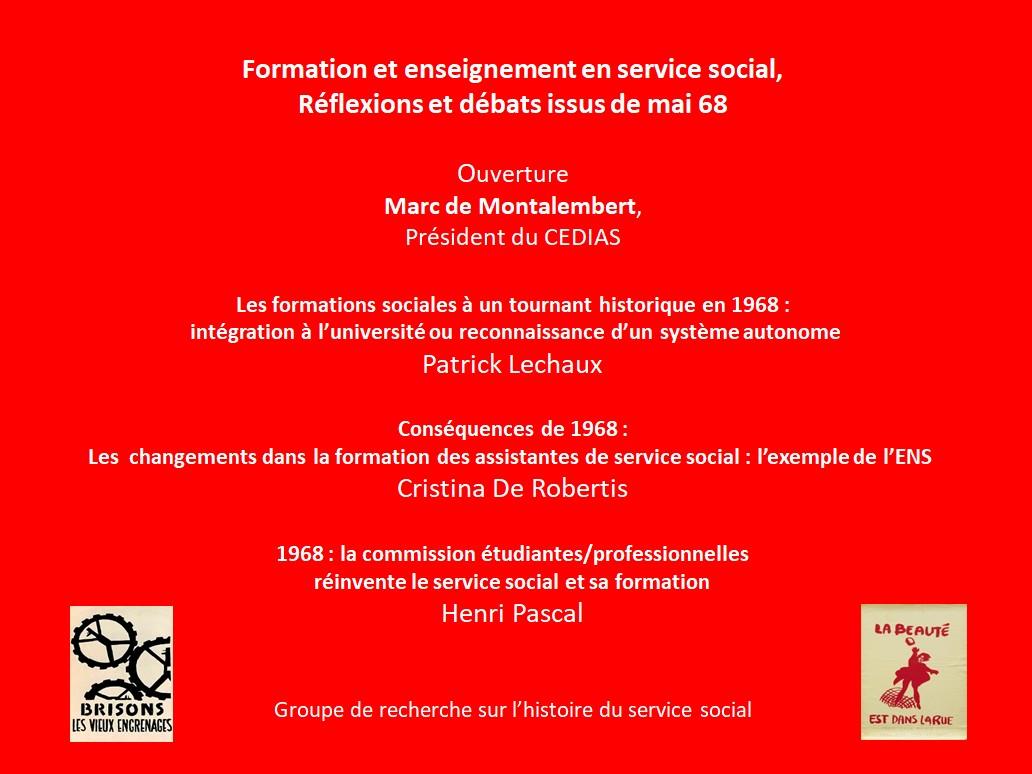 Table ronde organisée par le Groupe de Recherche en Histoire du Service Social (GREHSS)