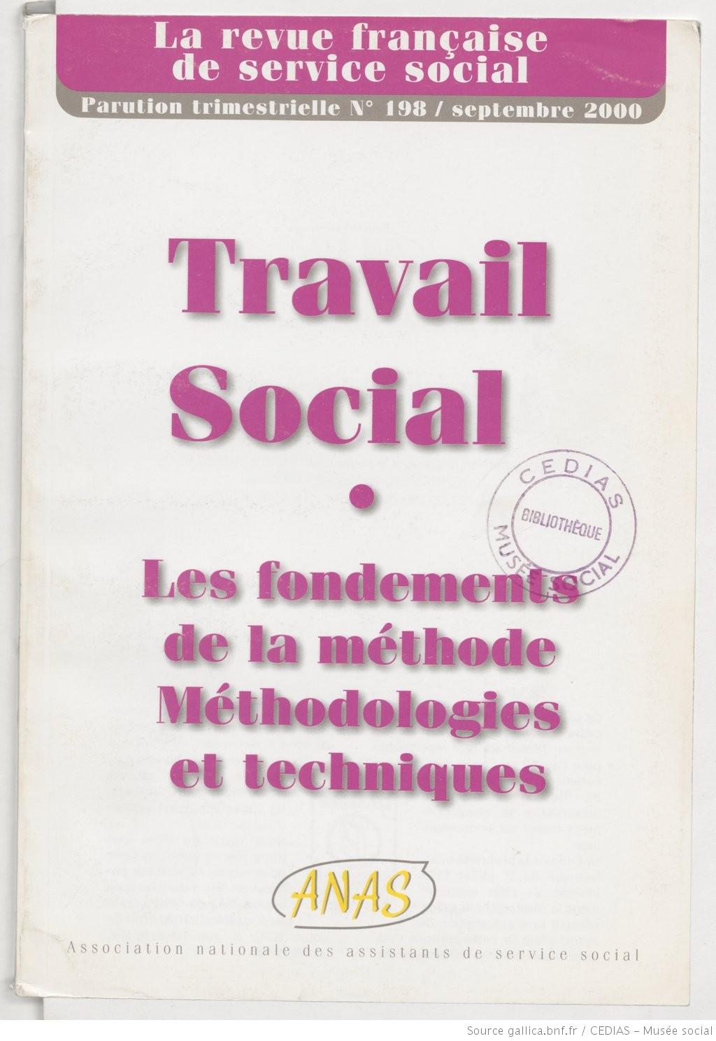 La Revue française de service social n° 198 - Septembre 2000