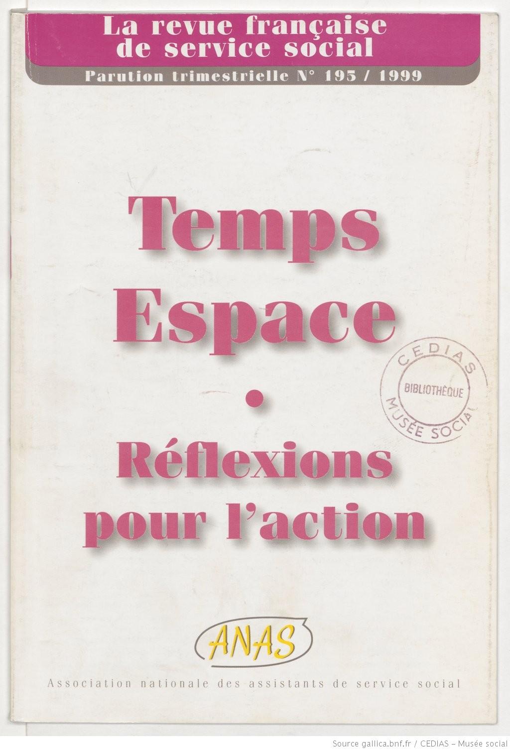 La Revue française de service social n° 195 - Décembre 1999