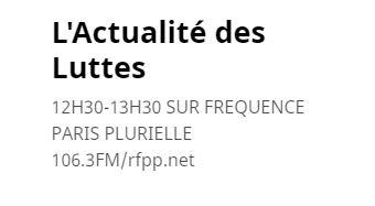 """Reportage - """"Le travail social en confinement"""" dans l'Actualité des Luttes sur Fréquence Paris Plurielle"""