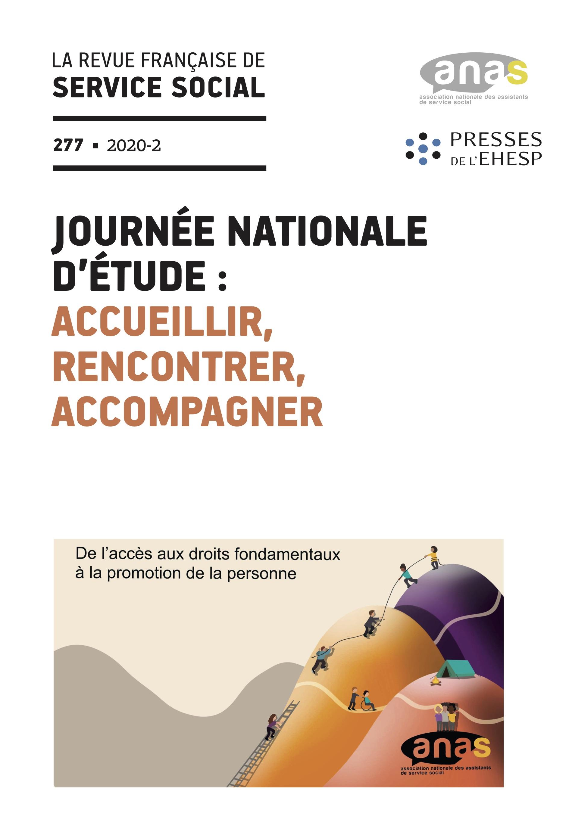 """RFSS N°277 : """"Accueillir, rencontrer, accompagner, de l'accès aux droits fondamentaux à la promotion de la personne"""""""