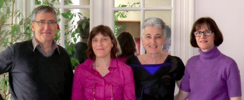 De gauche à droite : Didier Dubasque, Anne-Brigitte Cosson, Michèle Chaumeau et Corinne Souciet