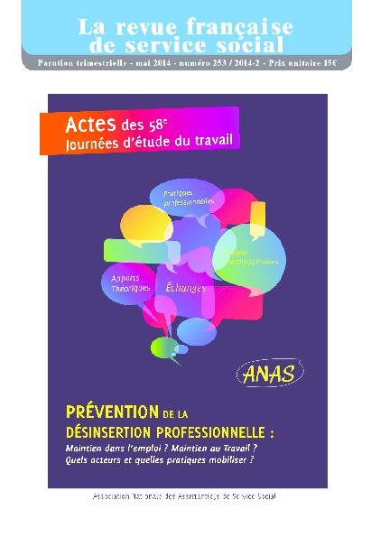 """RFSS N°253 : JET 2014 : """"Prévention de la désinsertion professionnelle"""""""