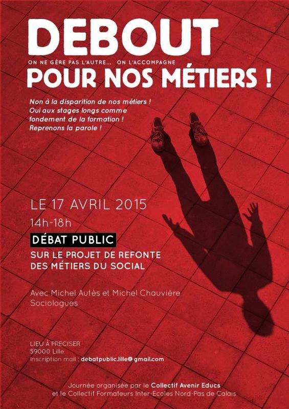 Le Collectif Avenir Educs organise un Débat Public à Lille le 17 avril sur le projet de refonte des métiers du social