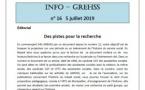 Info GREHSS n°16, 7 juillet 2019