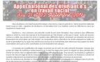 Appel national des étudiants en travail social du 21 et 22 septembre 2019