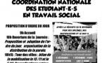 Coordination nationale des étudiant-e-s en travail social le 7 décembre 2019