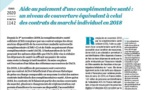 Aide au paiement d'une complémentaire santé :  un niveau de couverture équivalent à celui  des contrats du marché individuel en 2018  , n° 1142 DREES, février 2020