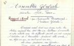 Registre de l'Association des Assistantes Sociales Diplômées d'État - 1945 à 1949