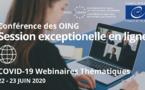 Session exceptionnelle Juin de la Conférence des OING (22-23 juin 2020)